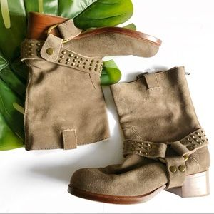 Zadig & Voltaire Suede Harness Leather Boots